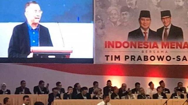 Dahlan Iskan Deklarasikan Dukungan untuk Prabowo-Sandi