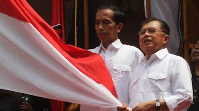 Presiden Joko Widodo dan WapresJusuf Kalla