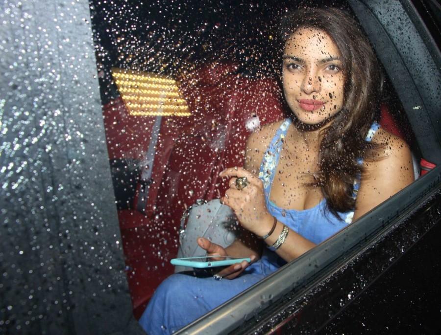 Priyanka Chopra Near Her Residence In Juhu
