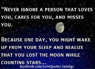 Never Ignore A Person Who Loves You Lovely Quotes Poems Sayings
