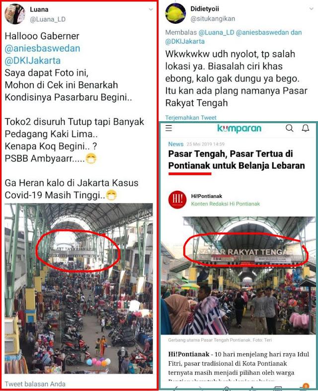 Udah NYOLOT Ehh SALAH... Pasar Pontianak Kok Yang Disalahin Gubernur Anies