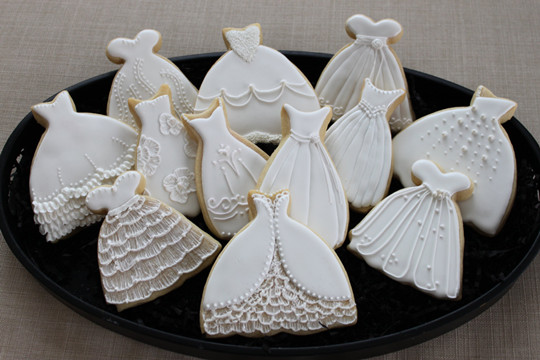 diy Wedding Cake Decorated Cookies
