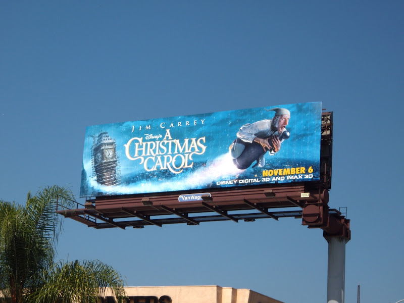 Disney Christmas Carol movie billboard