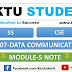 CS307 Data Communication Module-5 Note | S5 CSE