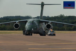 Brazilian Airforce Embraer KC-390 transport twin jet military airshow