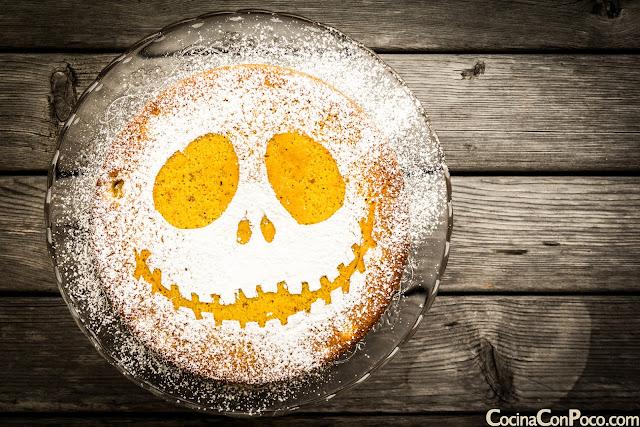 Bizcocho de calabaza de Halloween - Sin gluten