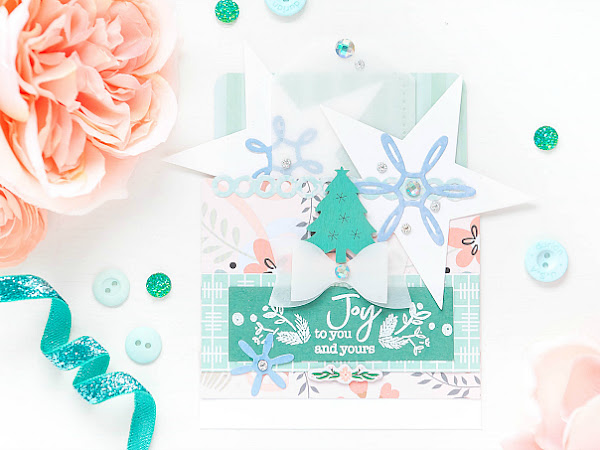 Joy To You and Yours - Pinkfresh Studio + Papertrey Ink | Dimensional Mail-able Holiday Cards