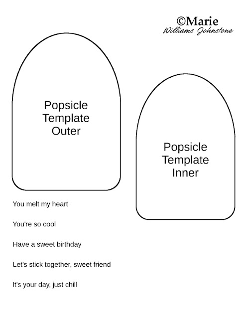 Free printable popsicle iced lolly shaped template pattern