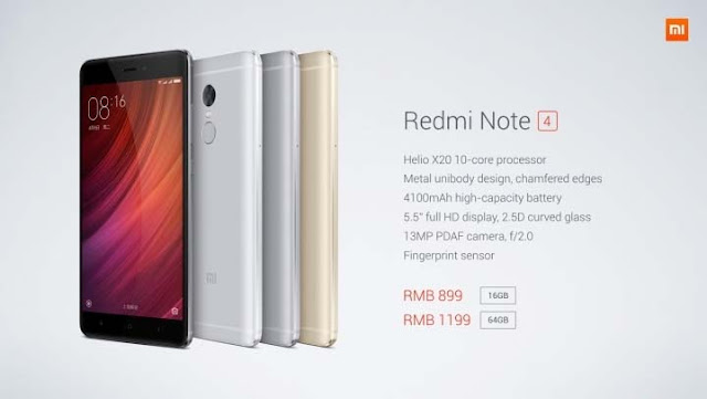 Xiaomi Redmi Note 4 Price & Specification