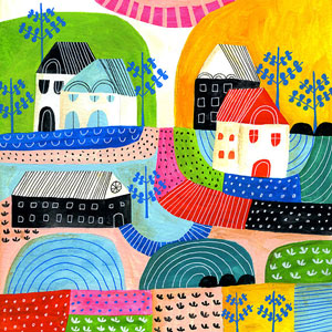 Lisa Congdon - Landscape Study art print on Etsy