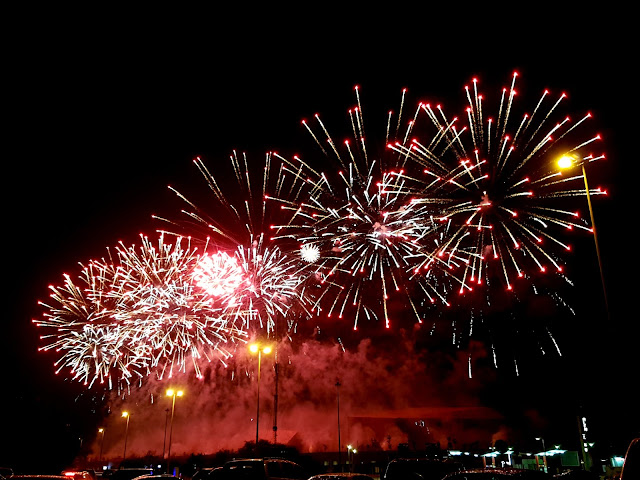 Fireworks at the Opening of the Sheikh Jaber Al-Ahmad Cultural Centre