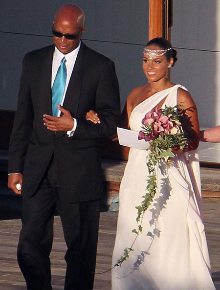 Green Bay Wedding Dresses Celebrity Wedding Alicia Keys