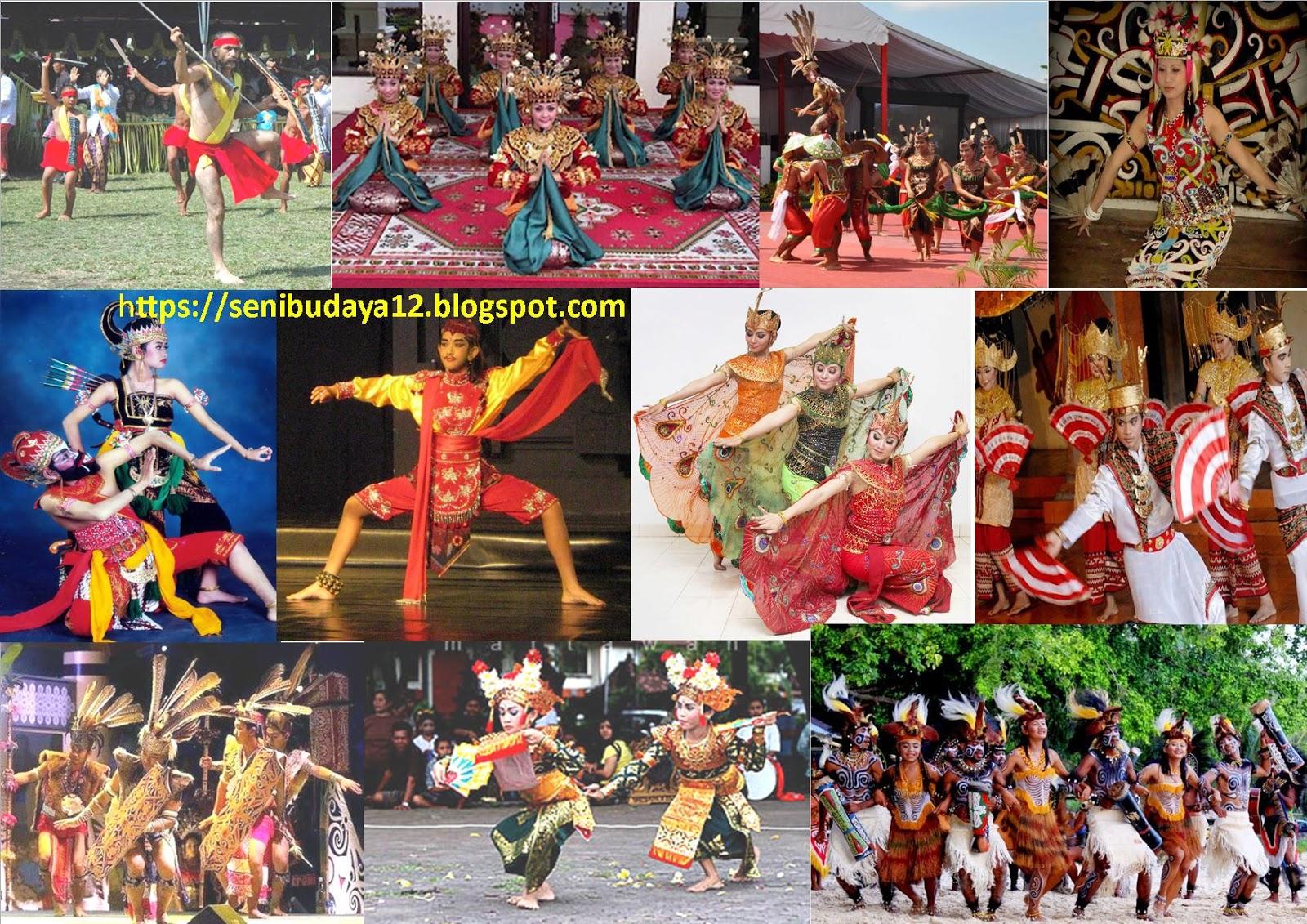 Seni Budaya Kliping Gambar Tari Tradisional Adat Suku Daerah Di 34 Provinsi