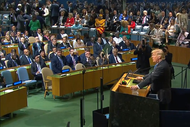 U.S. President Donald Trump Speech To United Nations