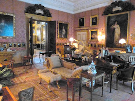 The drawing room, Kingston Lacy  - the portrait of Frances Woodley is on the right