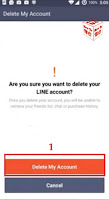 delete line messenger account