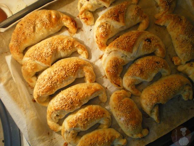 Croissants de pollo: recién horneados