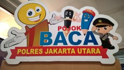 Asiknya Mojok di Pojok Baca Polres Metro Jakarta Utara