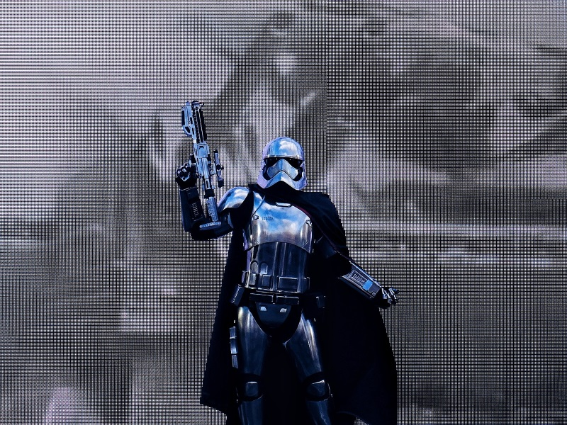 Captain Phasma en spectacle à Walt Disney Studios