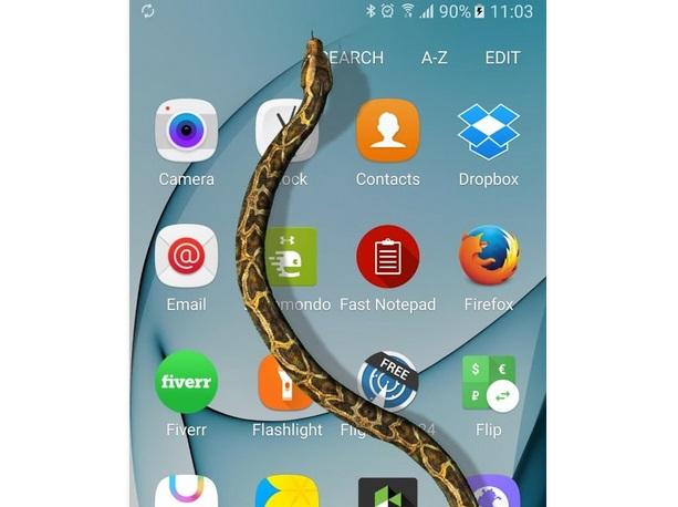 Terungkap, Beginilah Cara Memunculkan Ular di Layar Smartphone Android