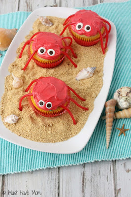 Decorated Crab Cupcakes