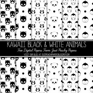Free Kawaii Digital Paper