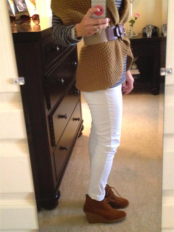 Top What Wear Winter White Corduroys