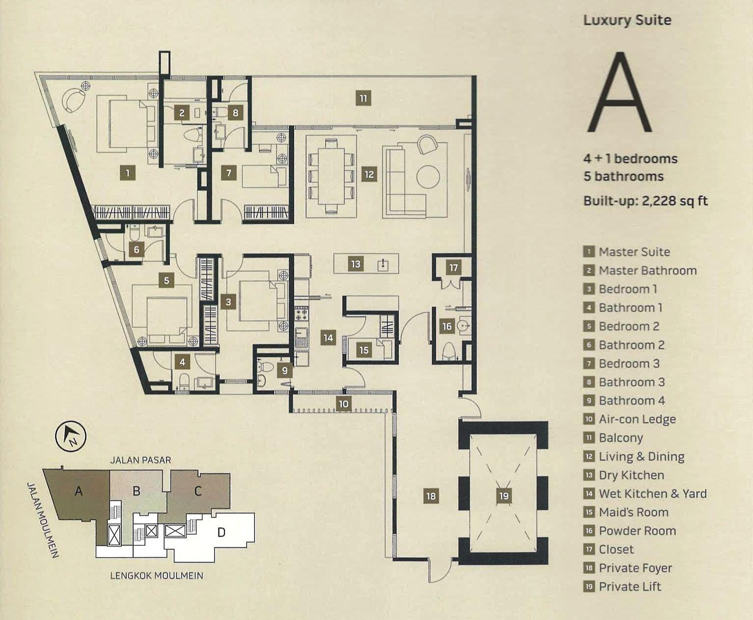 Penang Property Street Mont Residence 38 Storey Seaview Condo