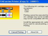 Tips Cara Atasi Printer Canon Catridge Cannot be Recognized