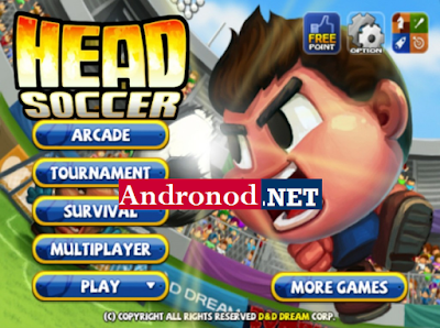 Head Soccer v6.0.8 Mod Apk+Data Obb Terbaru (Mod Money)