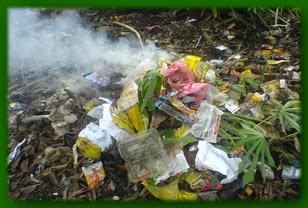 sampah anorganik,rumah tangga,pencemaran