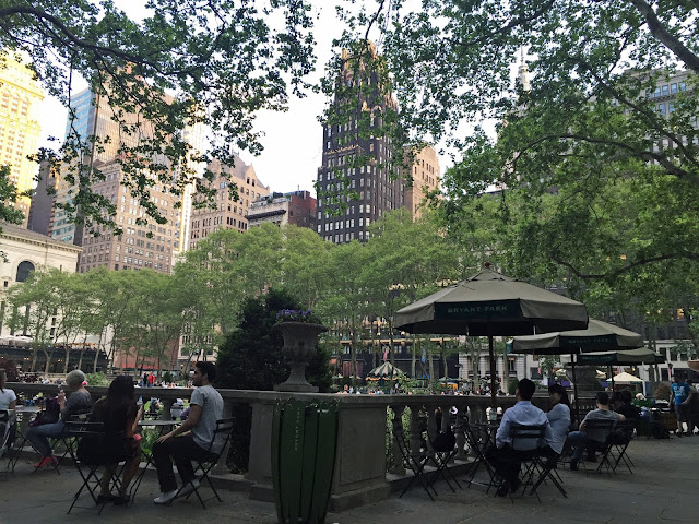 NYC travel guide summer bryant park seating