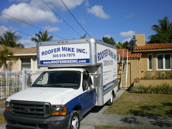 Roofer Mike's Truck in Miami, Fl.