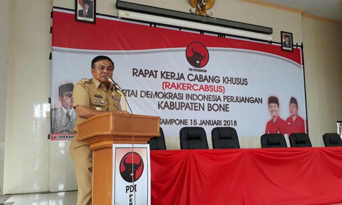 Fahsar Ajak Kader PDI-P Bone Atur Strategi Kemenangan