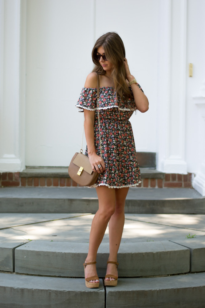 summer staple off-shoulder dress