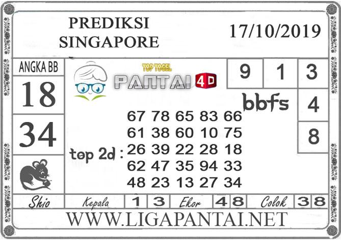 """PREDIKSI TOGEL """"SINGAPORE"""" PANTAI4D 17 OKTOBER 2019"""
