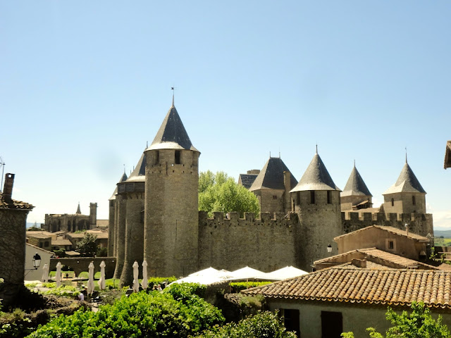 Chateau Comtal and Basilique St-Nazaire, Carcassonne, France