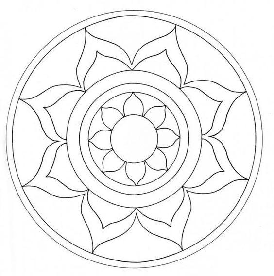 Tranh tô màu hình tròn trang trí