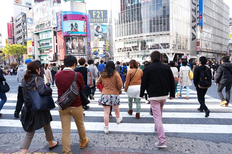 Tokyo, Japan, Shibuya crossing, Euriental