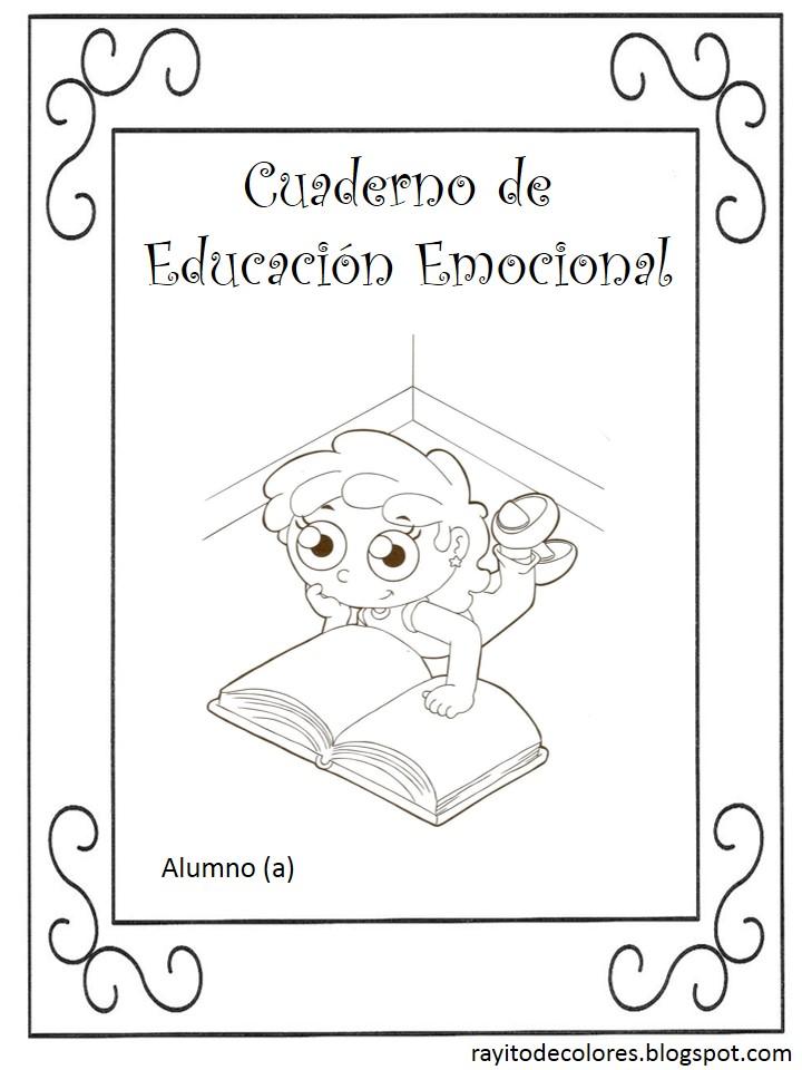 carátula escolar para educación emocional