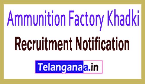 Ammunition Factory Khadki AFK Recruitment