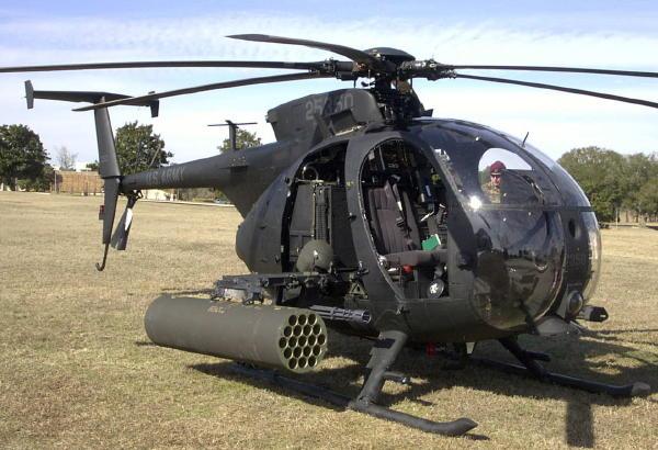 MD MH-6, uno de los helicópteros militares para Savage Worlds