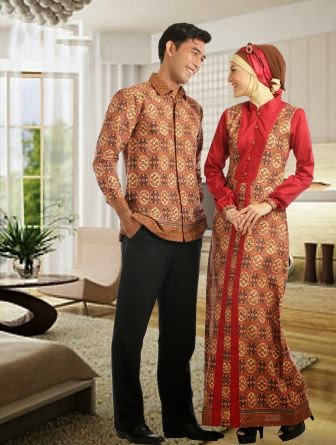 Baju batik muslim moderen sarimbit