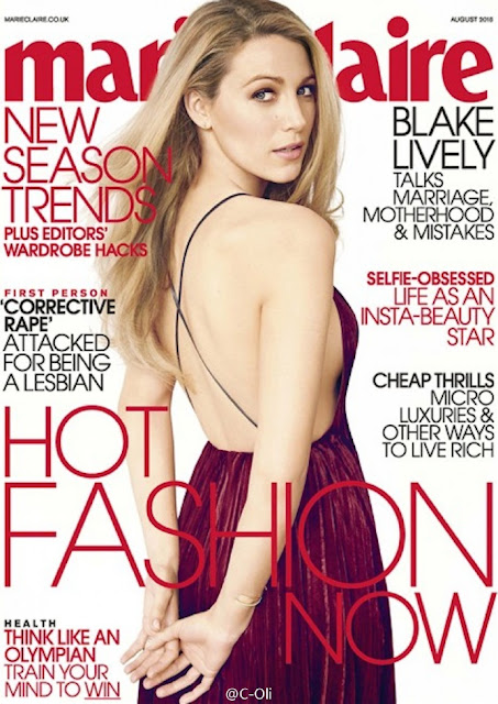 Actress, Model, @ Blake Lively - Marie Claire UK August 2016