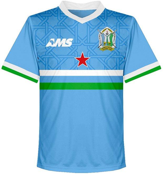 AMS apresenta os novos uniformes de Djibuti - Show de Camisas c4bf215770263