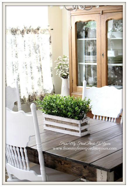 DIY-Farmhouse-Kitchen-Breakfast-Nook-Farmhouse-Table-From My Front Porch To Yours