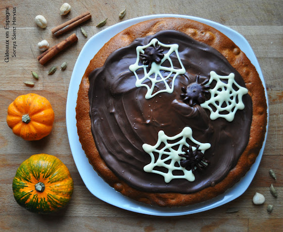recette gateau potiron halloween