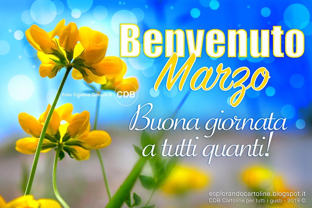 Cdb Cartoline Per Tutti I Gusti Cartolina Benvenuto Marzo