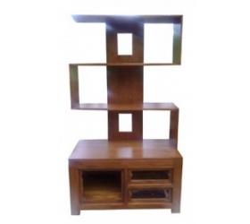gambar rak buku minimalis kayu jati