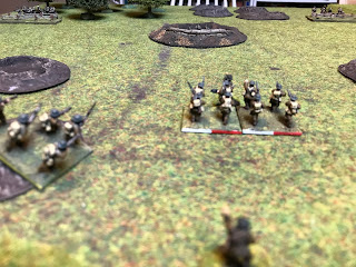 The British attackers begin their assault on the German HMG